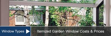 garden window cost for install