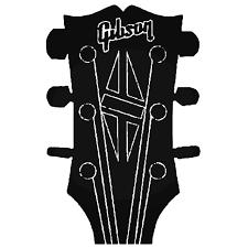 Gibson Guitar Head Decal Sticker