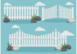 White Picket Fence Vectors Download Free Vectors Clipart Graphics Vector Art