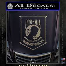 Pow Mia Decal Logo Sticker D2 A1 Decals