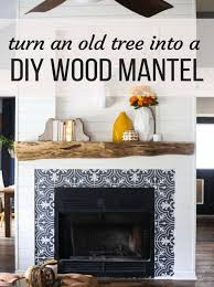 diy fireplace mantel our rustic diy