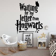 Super Sale Ffc420 Modern Waiting For My Letter From Hogwarts Vinyl Wall Stickers Decor For Living Room Kids Room Wall Art Decal Cicig Co