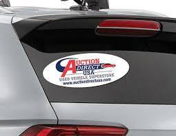Custom Oval Car Sticker