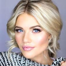 prom makeup blue eyes blonde hair