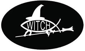 Amazon Com Js Artworks Pagan Witch Fish Oval Vinyl Sticker Decal Automotive