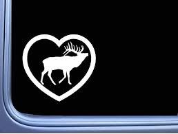 Amazon Com Lplpol Window Car Stickers Elk Big Heart Sticker Bugle Call Camo Hunting Bull Window Decal For Car Laptop Window Sticker 6 Kitchen Dining