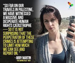 Mint Press News - Israel banned journalist Abby Martin... | Facebook