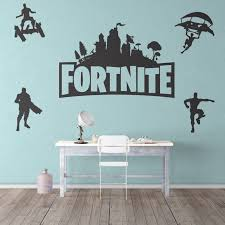 Fortnite Wall Decor Sticker For Game Room House Grey