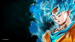 wallpaper goku super saiyan blue