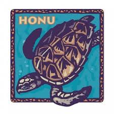 Hawaiian Honu Turtle Car Window Decal Bumper Sticker