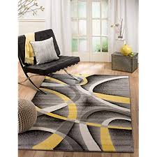 yellow and grey area rug com