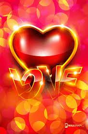 3d i love u hearten hd wallpaper for