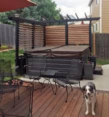 Deck Railings For Hot Tub Flex Fence Louver System Hot Tub Patio Hot Tub Outdoor Hot Tub Gazebo