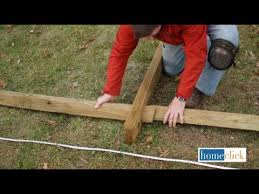 How To Install A Split Rail Fence Homeclick Com Youtube