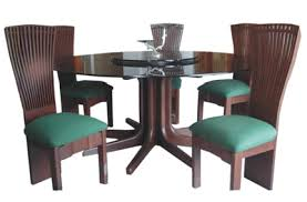 round dining table teak wood glass top