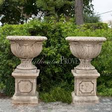 pair of acanthus urns imported garden