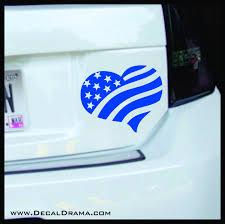 United States Flag Heart Vinyl Car Laptop Decal Decal Drama
