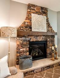 rough sawn fireplace manels made with