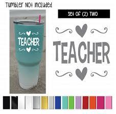 Teacher With Hearts Vinyl Graphic Decal Sticker Vehicle Car Truck Window Laptop And Universal Tumbler Shop Vinyl Design