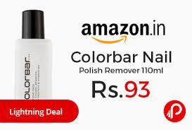 colorbar nail polish remover 110ml low