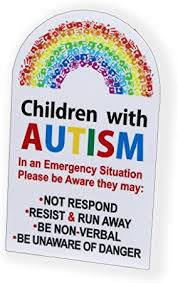Amazon Com Children With Autism Sticker Safety Vinyl Decal Graphic For Car Vehicle Truck Van Suv Home Automotive