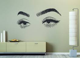 Eyelashes Eyebrows Wall Vinyl Decal Eyelashes Eye Wall Vinyl Sticker Girls Eyes Wall Decor Beauty S Wall Decor Stickers Vinyl Wall Decals Beauty Salon Decor