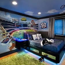 Baseball Wall Mural Of Yankees Stadium Contemporary Kids Los Angeles By Morgan Mural Studios