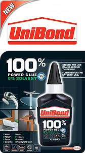 unibond 100 percent power glue bottle