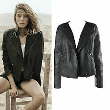 black knit textured faux leather zip