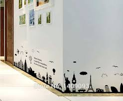World Famous Buildings Room Home Decor Removable Wall Stickers Decals Decoration Home Garden Decor Decals Stickers Vinyl Art