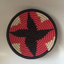 small african basket ethnic wall