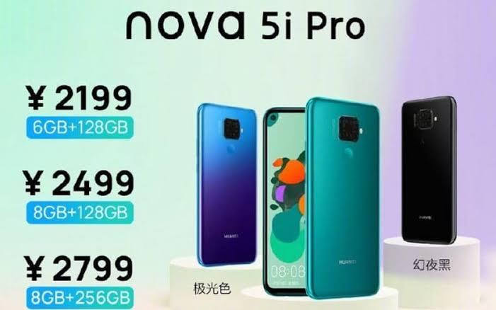 """Résultat de recherche d'images pour """"Huawei Nova 5i Pro"""""""