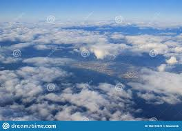 White Clouds In The Sky From Air View ...