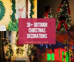 38 Beautiful Diy Outdoor Christmas Decorations Ideas Tutorials For 2020