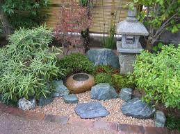 trendy small zen japanese garden on