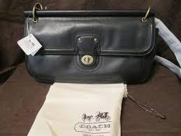 vintage coach black leather city willis