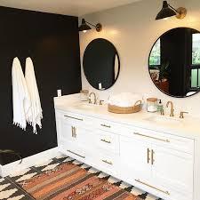black white bathroom rug home
