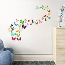 Ebern Designs Forbush Butterfly 3d Wall Decal Reviews Wayfair