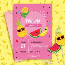 Kit Imprimble Tutti Frutti Sandia Anana Personalizable