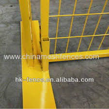 6 Foot Powder Coated Temporary Construction Fence Include Top Connectors And Base From China Manufacturer Haotian Hardware Wire Mesh Products Co Ltd