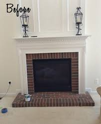paint your brick fireplace surround