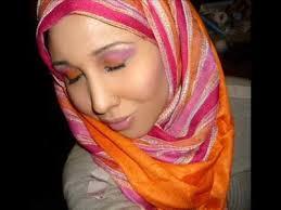 pink sunset hijab makeup tutorial