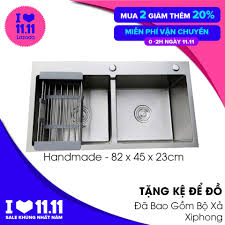 Mua Chậu Rửa Bát INOX Đúc Nguyên Khối KOREA SUS 304 82x45cm 2 Hố ...