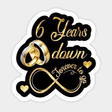 6th wedding anniversary shirt 6 years