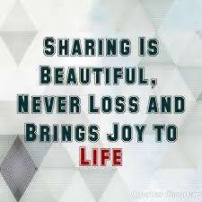 berbagi itu indah tidak pernah rugi dan membawa sukacita hidup