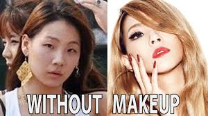 top kpop stars with vs without makeup