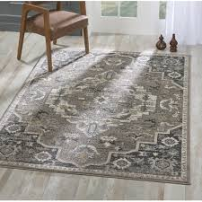 Bungalow Rose Melva Gray/Ivory Area Rug   Area rugs, Rugs, Blue area rugs
