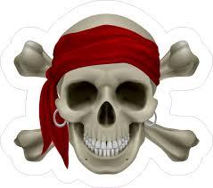 4 75 4 25in Realistic Pirate Skull Bumper Sticker Decal Vinyl Car Stickers Decals Stickertalk