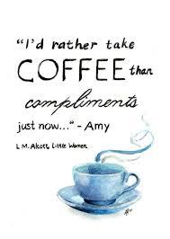 fine art print watercolor charcoal little women coffee