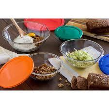 6 piece glass mixing bowl set